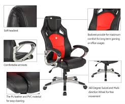 desk chair with headrest racing style executive high back ergonomic gaming chair geek earth