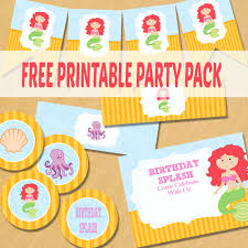 the little mermaid party printables itsy bitsy fun