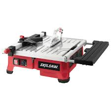 Skil 15 Amp 10 In Table Saw Skil 3550 02 5 Amp 7 In Wet Tile Saw With Hydrolock System