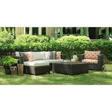 Biscayne Piece Wicker Sectional Seating Patio Furniture Set  Target - Outdoor patio furniture sets