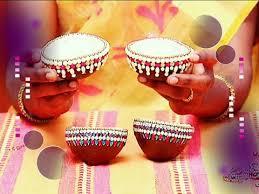 decorative kobbari chippa with kundans marriage items decoration