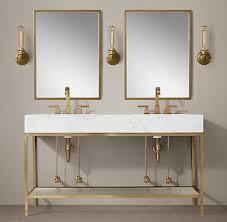 Restoration Hardware Bathroom Mirror by All Double Vanities Rh