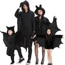 costumes for couples kids family bat costume couples black fleece