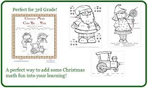 christmas math color by u2026 3rd grade printable pack enchanted