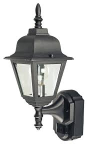 Motion Activated Outdoor Light Heath Zenith Sl 4191 Bk 180 Degree Motion Activated Country