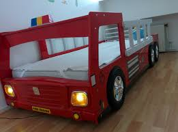 cabino brandweerauto bed fire truck bed with lamp and 3d wheels