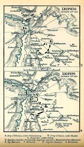 map of leipzig of the battle of leipzig october 16 19 1813