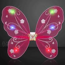 light up fairy wings led fuchsia fairy wings by flashingblinkylights com