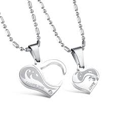 great necklace wholesale great gift symbols couples necklaces stainless