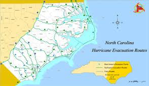 ncdot evacuation routes maps