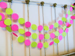 Pink And Yellow Birthday Decorations 1st Birthday Decorations Pink And Lime Paper Garland 10