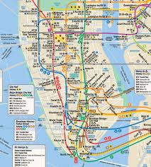 New York Map Of Attractions by New York City Subway Street Map New York Map