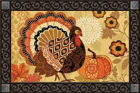 thanksgiving doormat turkey time thanksgiving doormat designed to be used indoors or