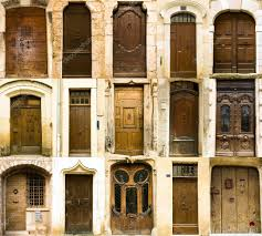 collection of old french entrance doors u2014 stock photo dibrova