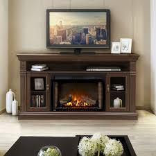 canterbury electric fireplace media console in espresso nefp29 1415e