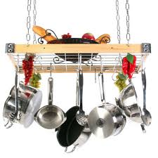 hanging pot and pan rack fabulous home ideas