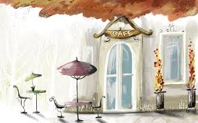 download wallpaper 3840x2400 painting paint color cafe city