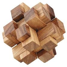 3d wood 3d squares cube wooden puzzle solve it think out of the box