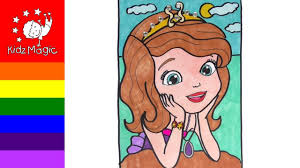 coloring pages drawing and coloring mermaid princess sofia