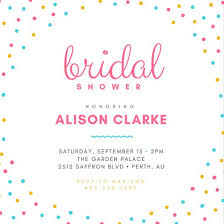wedding shower invitation customize 136 bridal shower invitation templates online canva