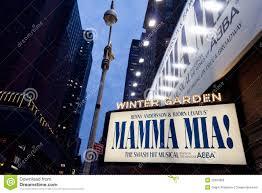 mamma mia on broadway editorial stock image image of manhattan