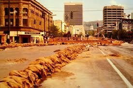 salt lake city flooding 1983 state at 300 south flickr