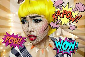 comic strip halloween makeup pop art makeup blue hair images