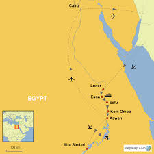 Nile River On Map Glorious Egypt With Nile Cruise Ancient Splendour Along The Nile