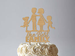 family wedding cake toppers best family cake topper rustic wedding cake topper silhouette