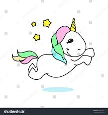 unicorn rainbow jumping unicorn rainbow unicorn stock vector 689565142 shutterstock