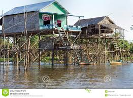 cambodia stilt houses editorial photography image 23322097