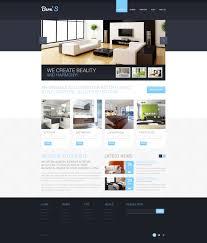 home interior website interior design responsive website template 44659