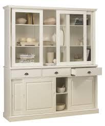 cuisine style anglais bibliothèque blanche vaisselier blanc 6 portes coulissantes