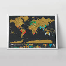 poster scratch map deluxe carte du monde à gratter 82 x 59 cm
