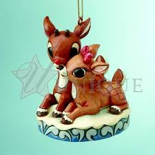 jim shore heartwood creek rudolph and clarice ornament set