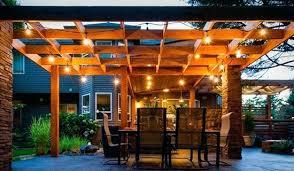 outdoor pergola lighting inspiration for a contemporary patio