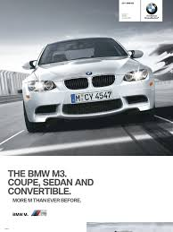 2011 m3 coupe convertible sedan brochure airbag suspension