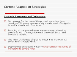 Challenge Causes Its Challenges To Manage The Risk Of Water Scarcity And Climate Change