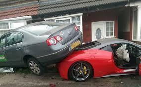 driver crashes 220 000 ferrari 458 italia hire car into