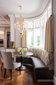 Curved Banquette Kitchen Traditional With Built In Banquette Dining Room Traditional With Lantern Pendants