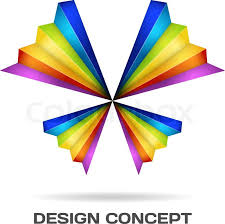 rainbow butterfly design concept stock vector colourbox