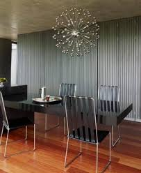 interior modern dining room lighting with sparkly silver sea modern dining room lighting with sparkly silver sea urchin design ideas over black dining table set