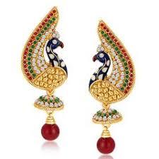 peacock design earrings peacock earrings buy ethnic earring of peacock designs online
