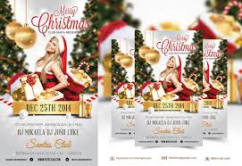 merry christmas nightclub psd flyer template dennybusyet