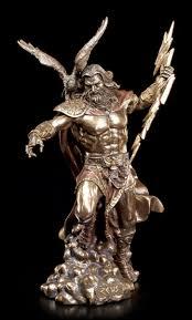 Esszimmer Zeus Zeus Figur Griechischer Göttervater Mit Adler Und Blitz