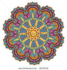ornament color card mandala geometric circle stock vector