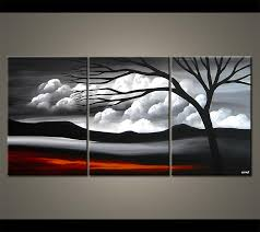 black and white painting ideas painting black white landscape 3966