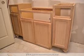 Unfinished Wood Vanity Table Furniture Style Bathroom Vanity Made From Stock Cabinets Part 1