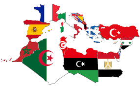 Map Of Mediterranean Countries Mediterranean Countries Flag Map By Captainvoda On Deviantart
