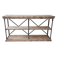 Metal And Wood Furniture La Salle Metal And Wood 2 Shelf Console Table At Home At Home